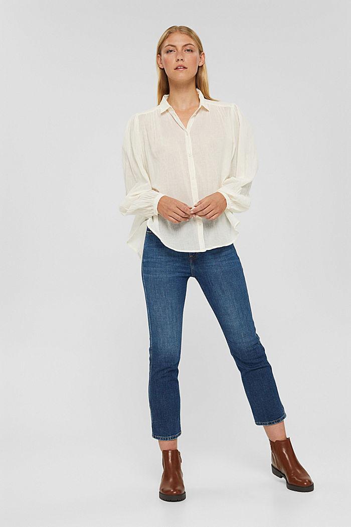 Cropped Jeans mit Kick Flare, BLUE DARK WASHED, detail image number 7