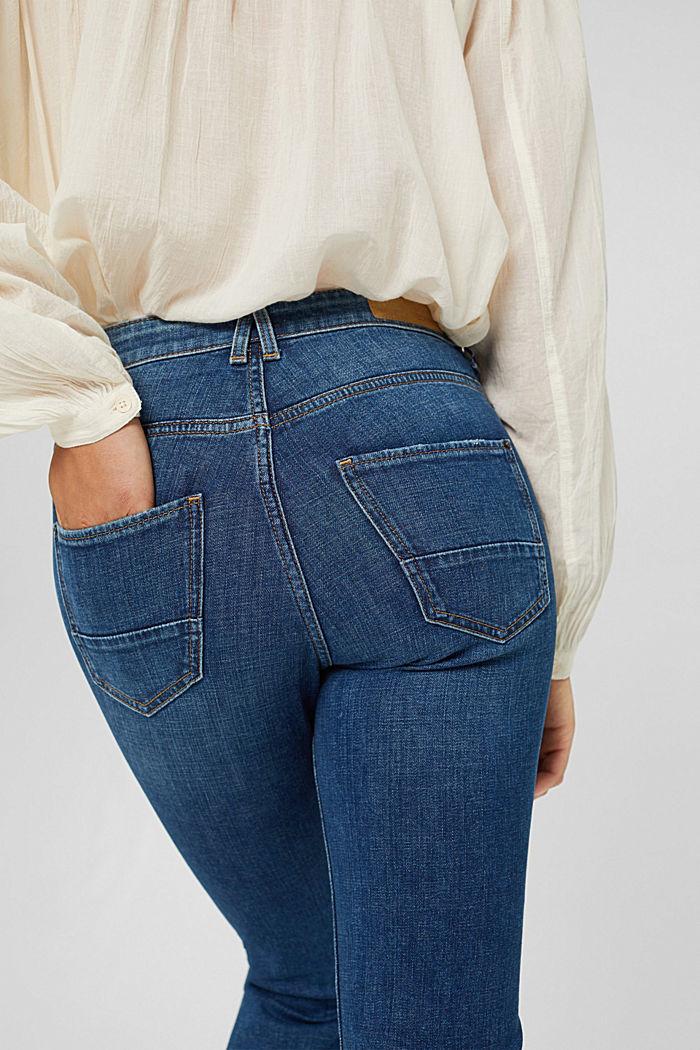 Cropped Jeans mit Kick Flare, BLUE DARK WASHED, detail image number 5