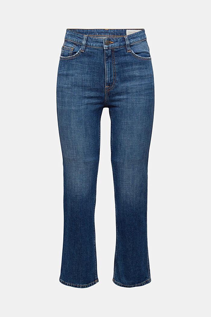 Cropped Jeans mit Kick Flare