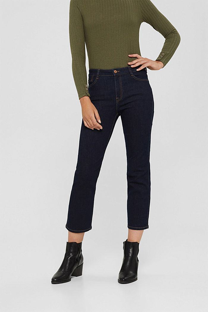 Kick flare jeans, BLUE RINSE, detail image number 0