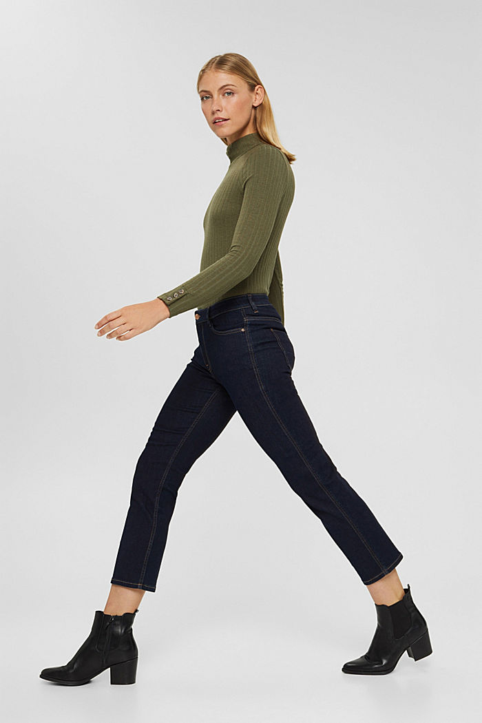 Kick flare jeans, BLUE RINSE, detail image number 1