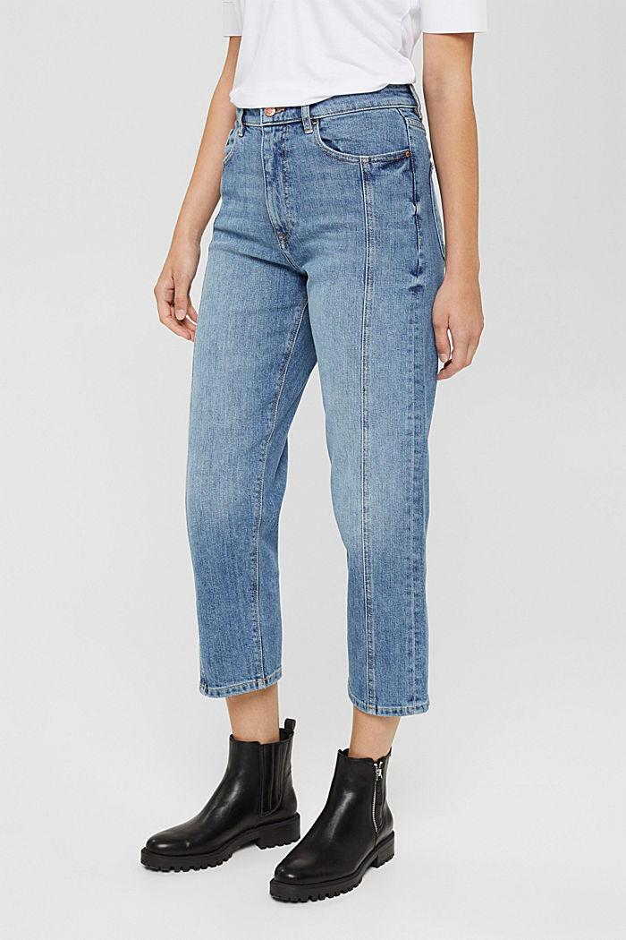 Pants denim straight cropped