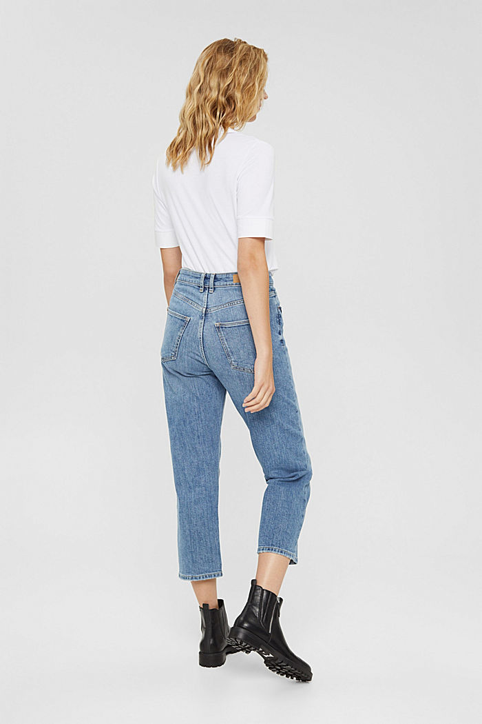 7/8 jeans in organic cotton in a fashion fit, BLUE MEDIUM WASHED, detail image number 3