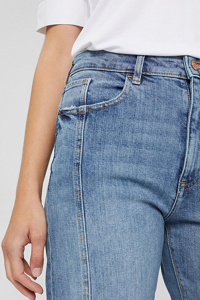 7/8 jeans in organic cotton in a fashion fit, BLUE MEDIUM WASHED, detail image number 2