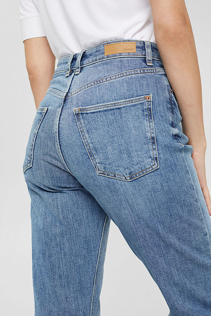 7/8 jeans in organic cotton in a fashion fit, BLUE MEDIUM WASHED, detail image number 5