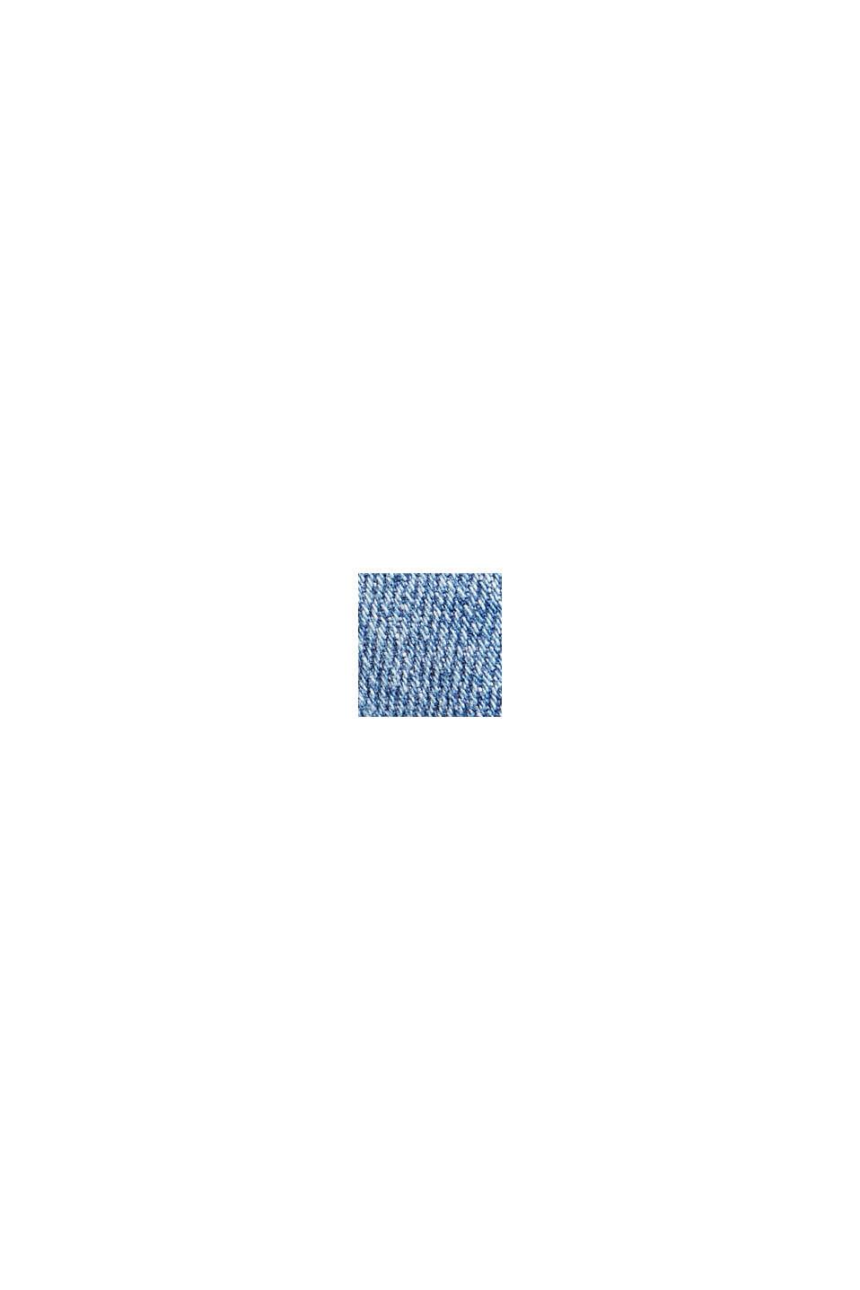 Pants denim straight cropped, BLUE MEDIUM WASHED, swatch