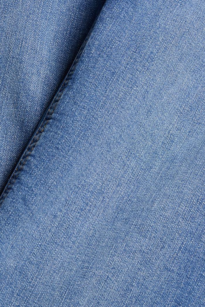 Gewassen stretchjeans van biologisch katoen, BLUE MEDIUM WASHED, detail image number 4