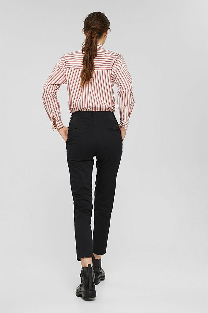 Pantalon stretch en coton mélangé, BLACK, detail image number 3