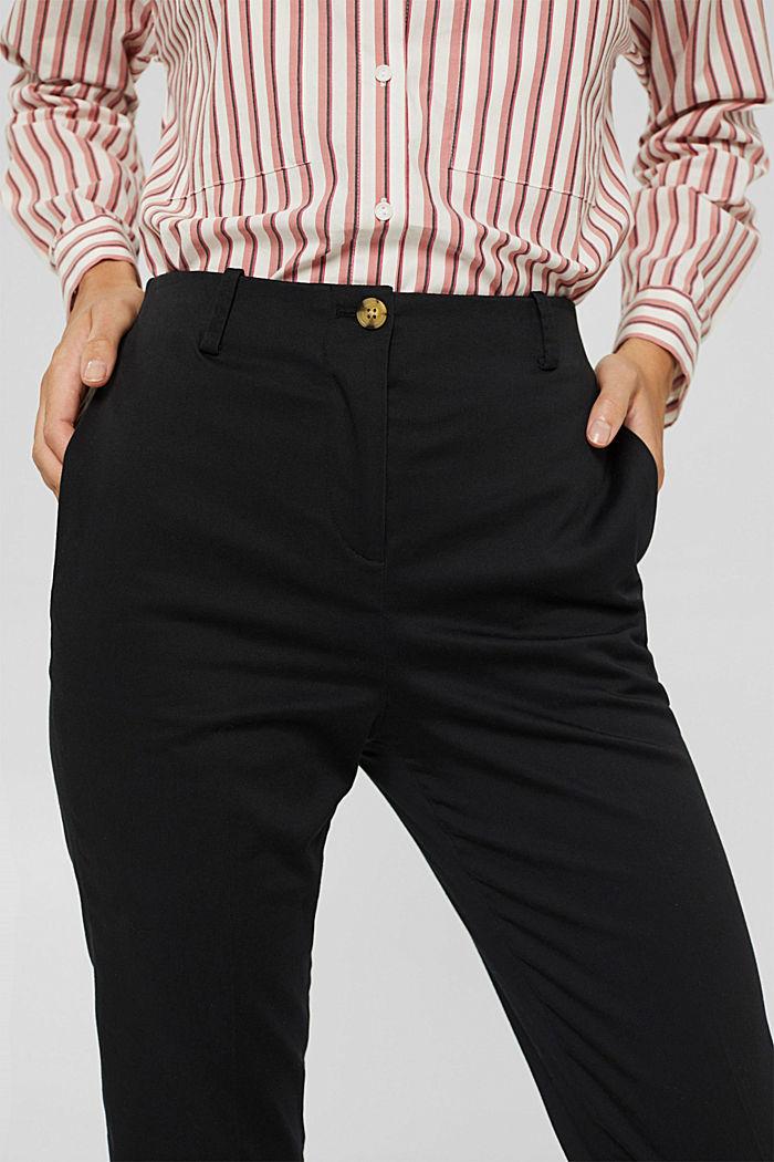 Pantalon stretch en coton mélangé, BLACK, detail image number 2