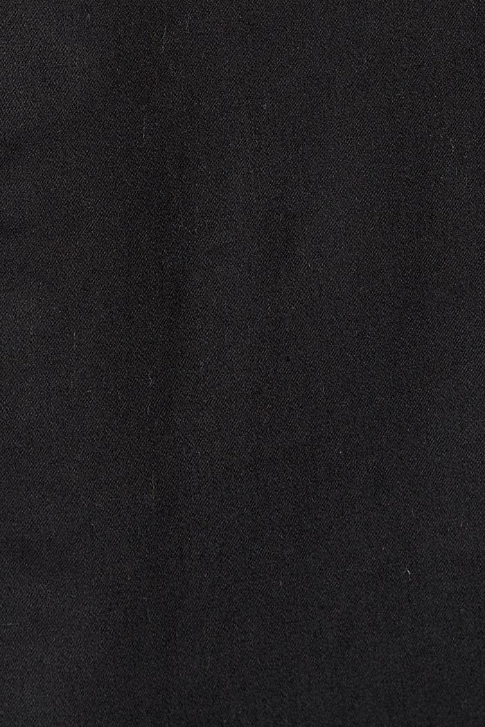 Pantalon stretch en coton mélangé, BLACK, detail image number 4