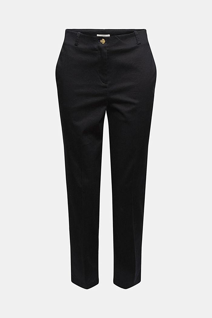 Pantalon stretch en coton mélangé, BLACK, detail image number 6