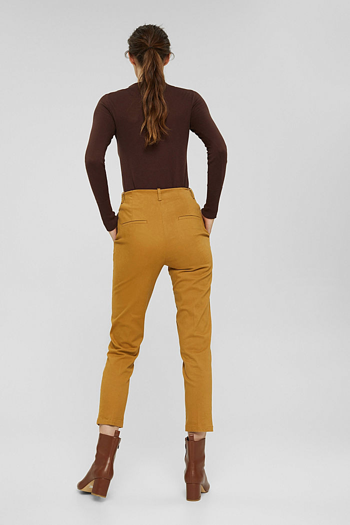 Cotton-blend stretch trousers, CAMEL, detail image number 3