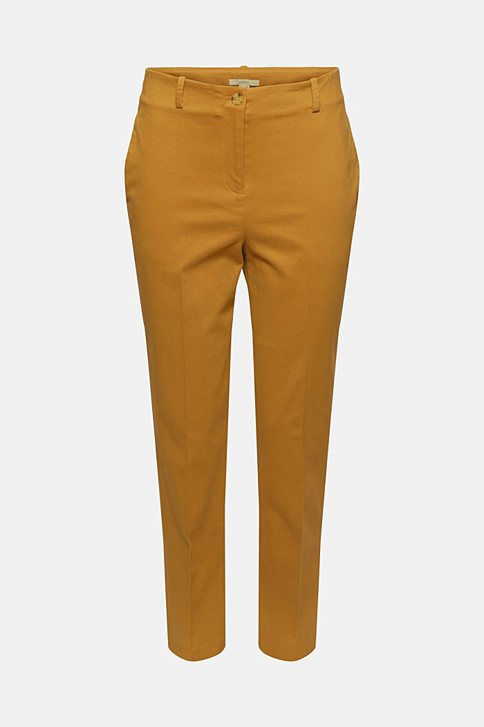 Cotton-blend stretch trousers, CAMEL, detail image number 6