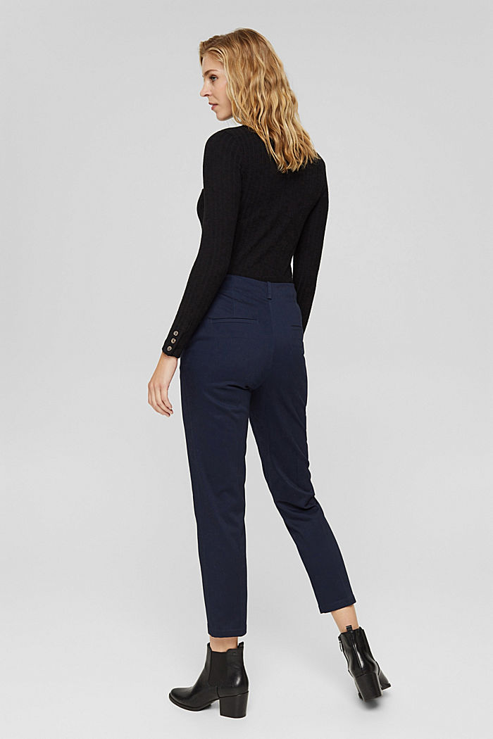 Cotton-blend stretch trousers, NAVY, detail image number 3