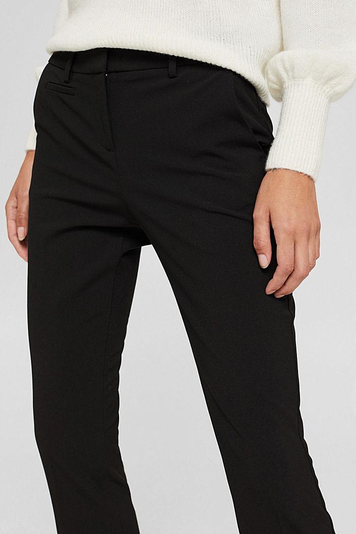 Cropped Hose mit Kick Flare, BLACK, detail image number 2