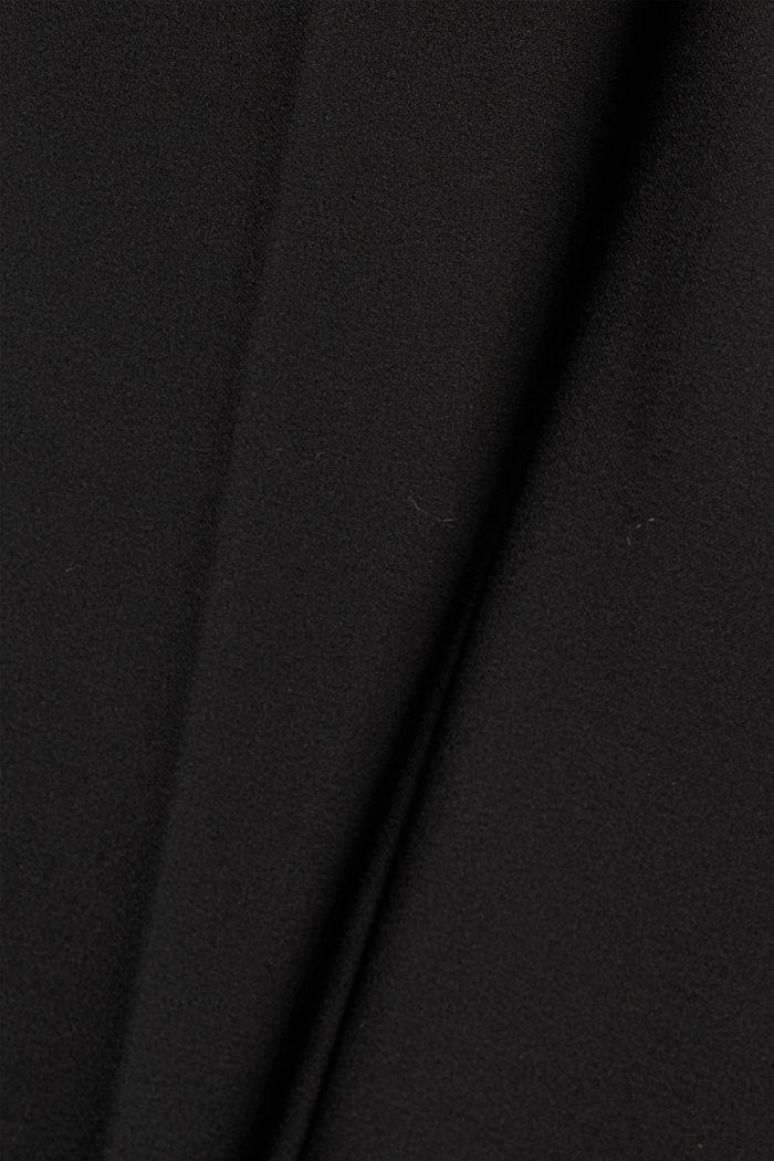Cropped Hose mit Kick Flare, BLACK, detail image number 4
