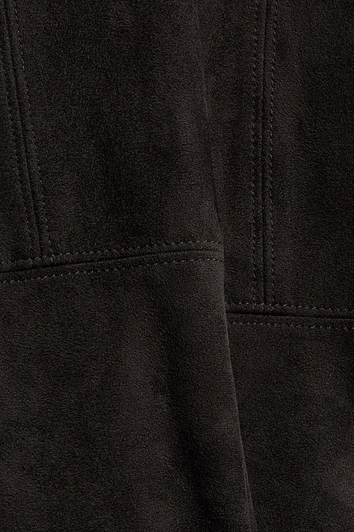 Treggingsit veluurinahkajäljitelmää, BLACK, detail image number 4