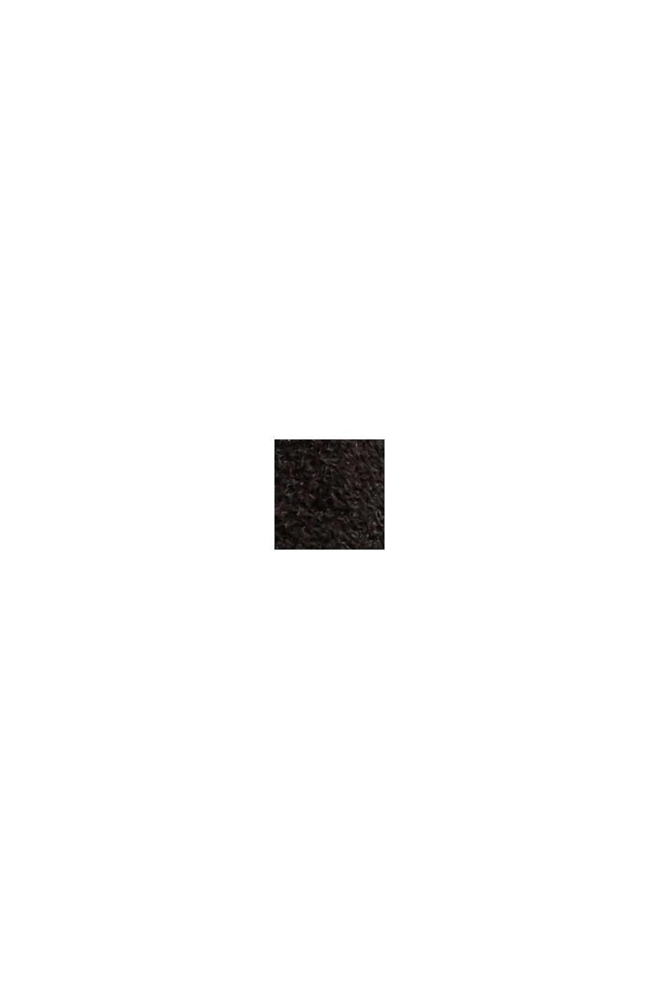 Treggings in Veloursleder-Optik, BLACK, swatch