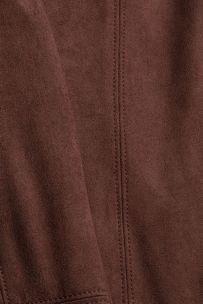 Treggingsit veluurinahkajäljitelmää, RUST BROWN, detail image number 4