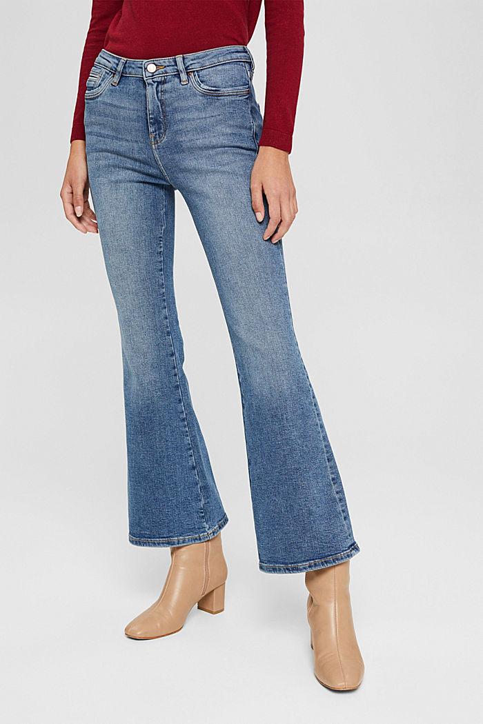 Jeans mit ausgestelltem Bein, Bio-Baumwolle, BLUE MEDIUM WASHED, detail image number 0