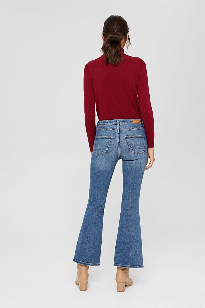 Jeans mit ausgestelltem Bein, Bio-Baumwolle, BLUE MEDIUM WASHED, detail image number 3