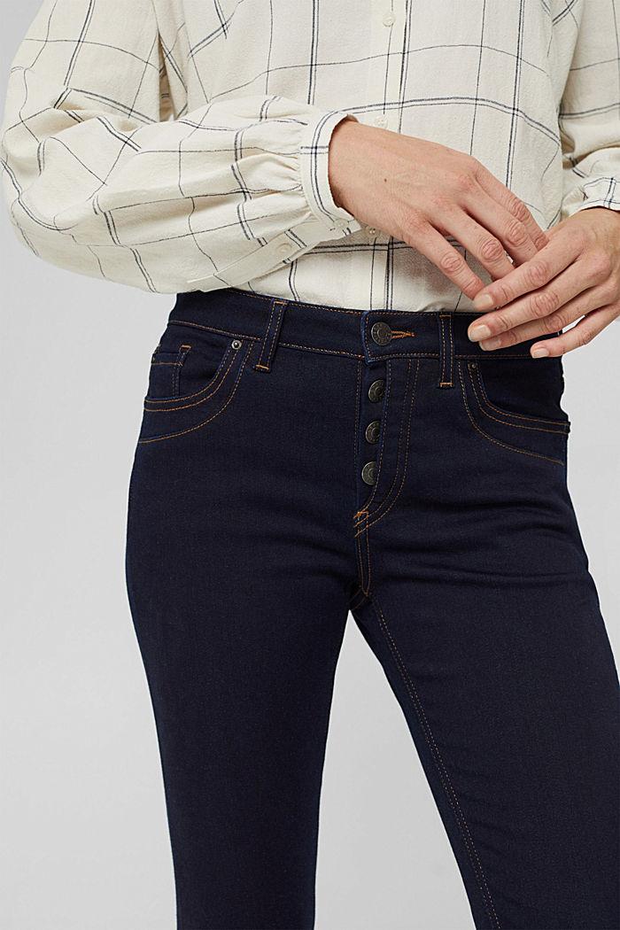Jeans mit Knopfleiste und Kaschmir-Touch, BLUE RINSE, detail image number 2