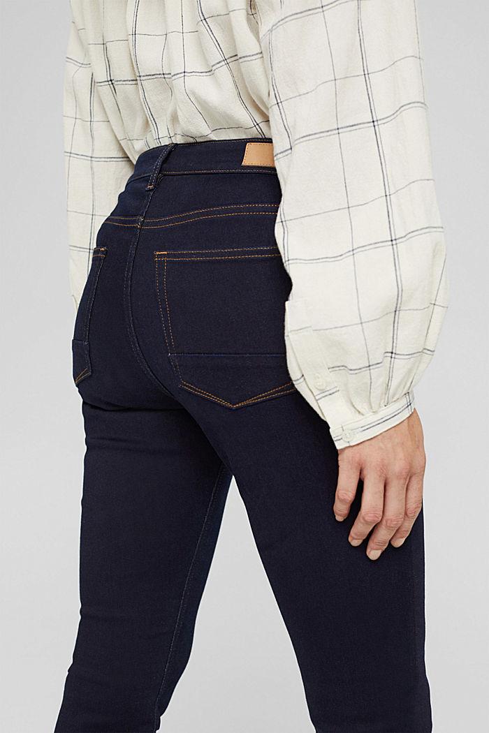 Jeans mit Knopfleiste und Kaschmir-Touch, BLUE RINSE, detail image number 5