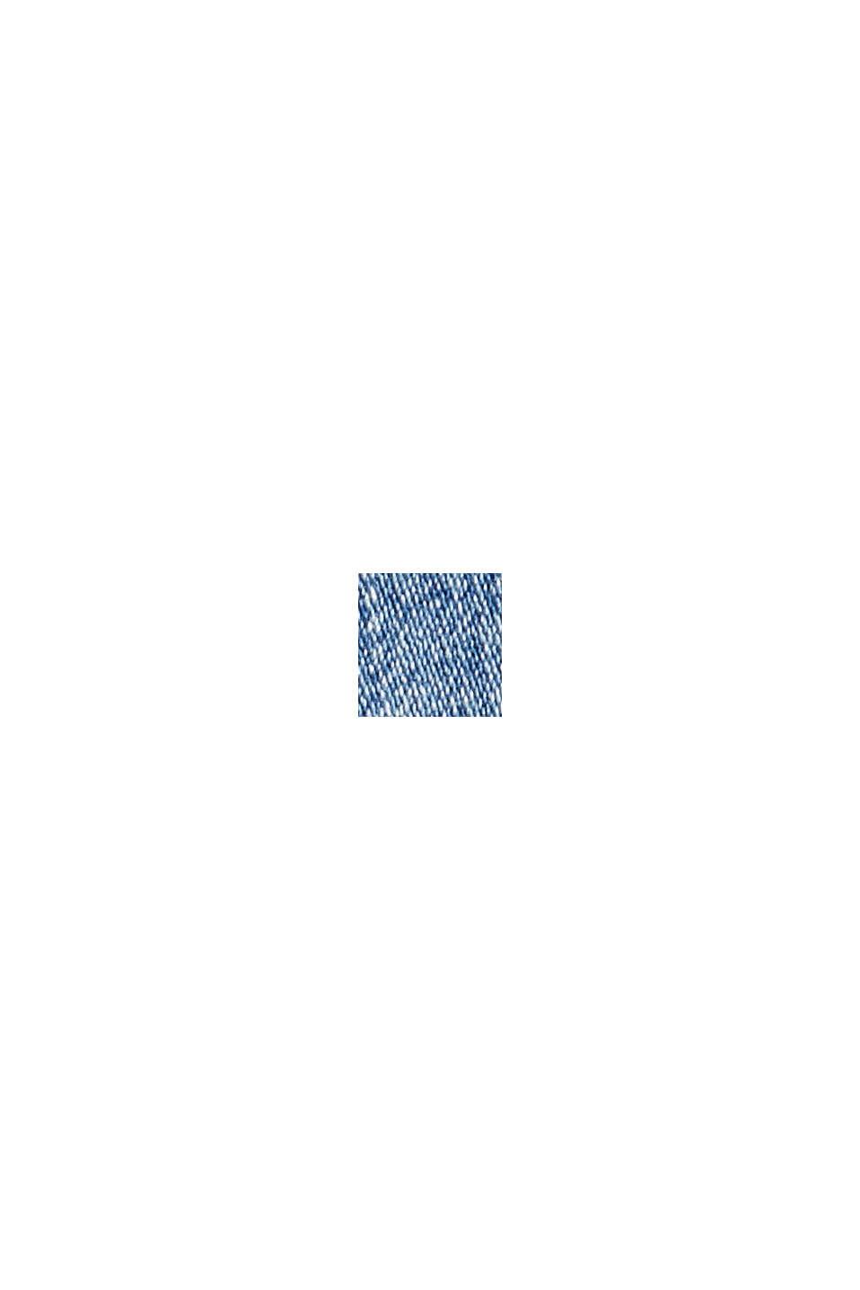Jeans met knoopsluiting en kasjmier-touch, BLUE MEDIUM WASHED, swatch
