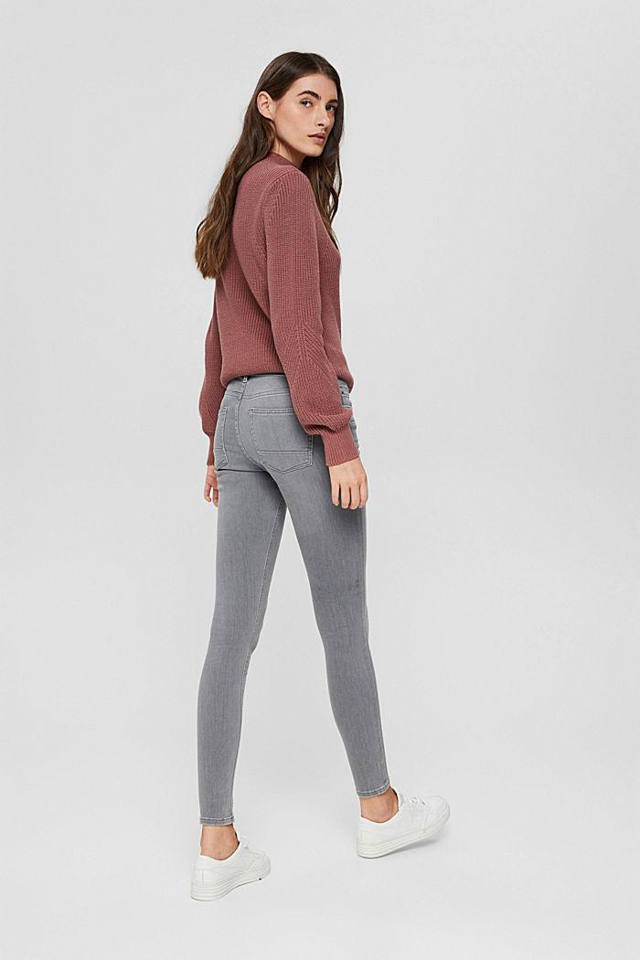 Jeans mit Knopfleiste und Kaschmir-Touch, GREY MEDIUM WASHED, detail image number 3