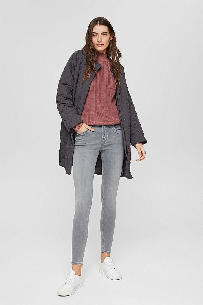 Jeans mit Knopfleiste und Kaschmir-Touch, GREY MEDIUM WASHED, detail image number 1
