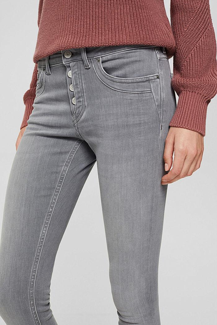 Jeans mit Knopfleiste und Kaschmir-Touch, GREY MEDIUM WASHED, detail image number 2