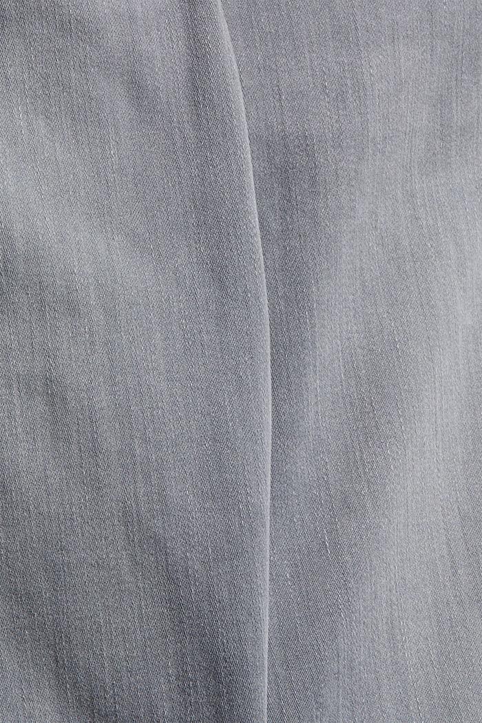 Jeans mit Knopfleiste und Kaschmir-Touch, GREY MEDIUM WASHED, detail image number 4