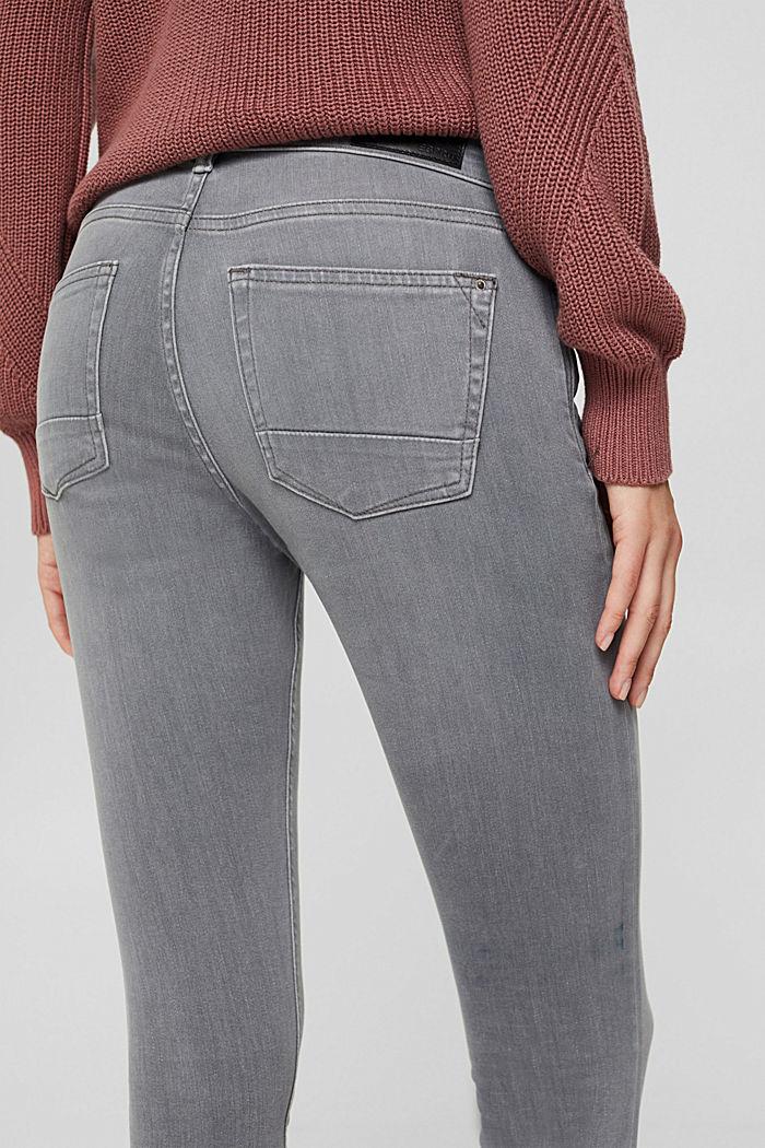 Jeans mit Knopfleiste und Kaschmir-Touch, GREY MEDIUM WASHED, detail image number 5