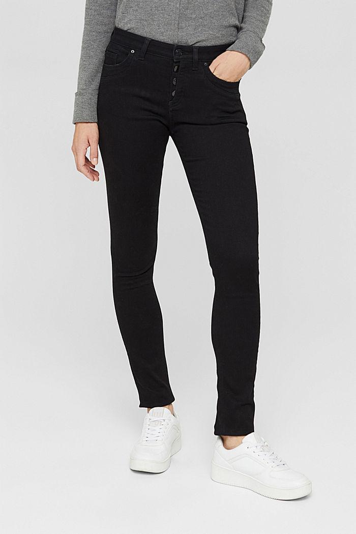 Jeans con abbottonatura ed effetto cashmere