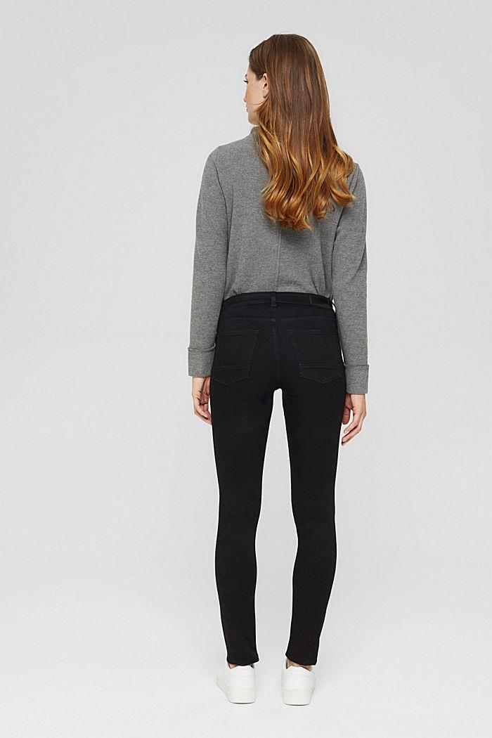 Jeans mit Knopfleiste und Kaschmir-Touch, BLACK RINSE, detail image number 3