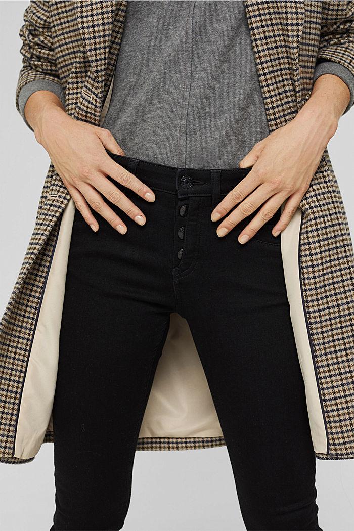 Jeans mit Knopfleiste und Kaschmir-Touch, BLACK RINSE, detail image number 2