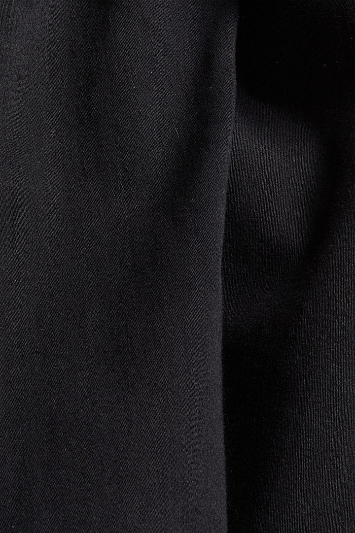 Jeans mit Knopfleiste und Kaschmir-Touch, BLACK RINSE, detail image number 4