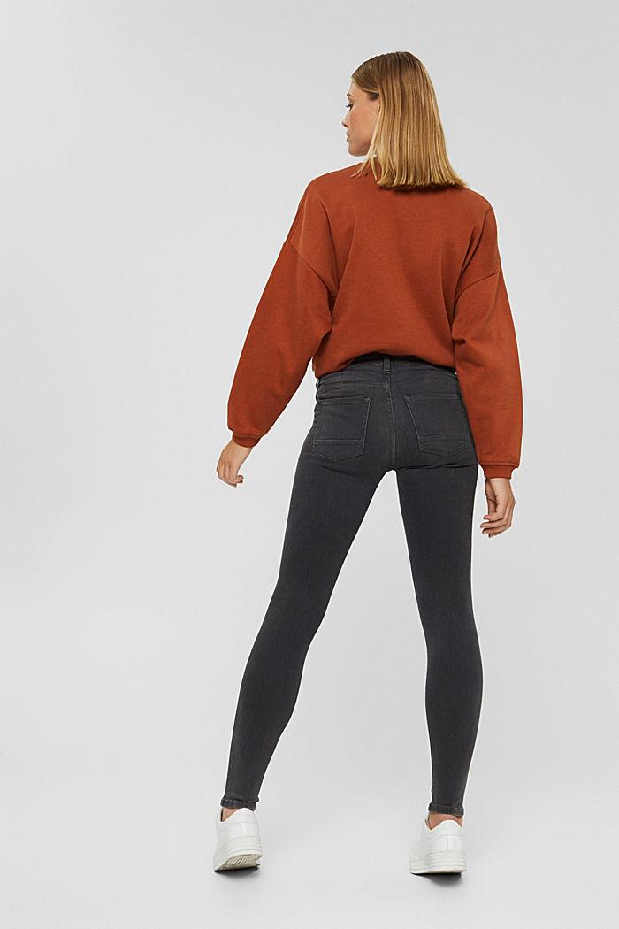 Jeans mit Knopfleiste und Kaschmir-Touch, BLACK DARK WASHED, detail image number 3