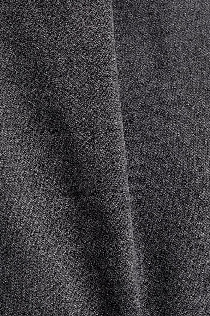 Jeans mit Knopfleiste und Kaschmir-Touch, BLACK DARK WASHED, detail image number 4