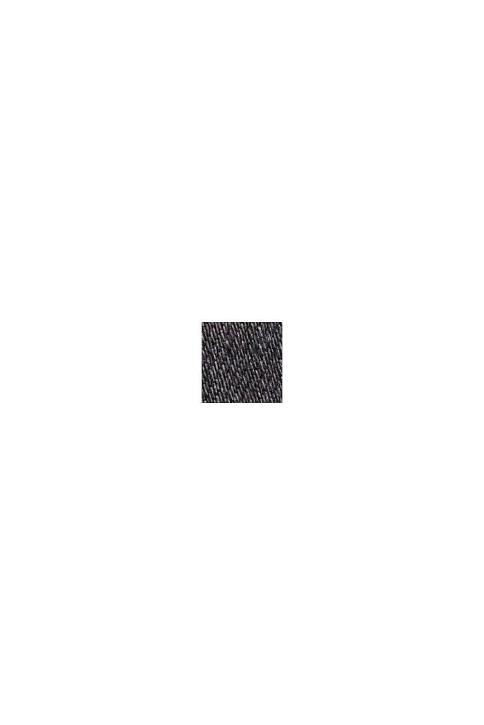 Jeans med knappslå och kaschmirkänsla, BLACK DARK WASHED, swatch