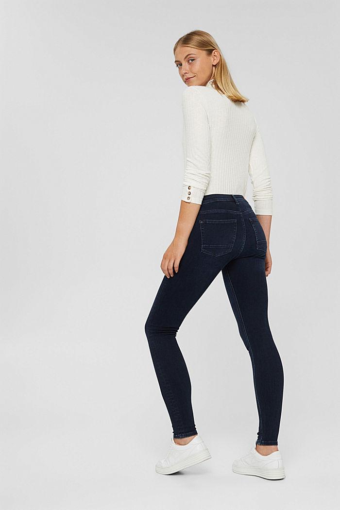 Jeans mit Knopfleiste und Kaschmir-Touch, BLUE BLACK, detail image number 3