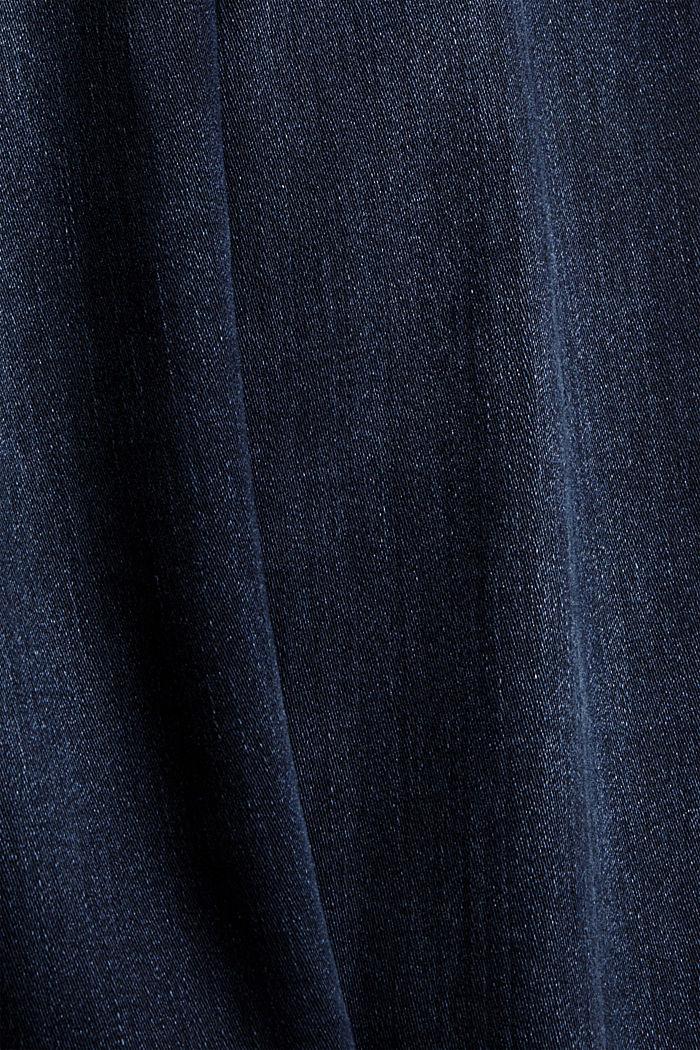 Jeans mit Knopfleiste und Kaschmir-Touch, BLUE BLACK, detail image number 4