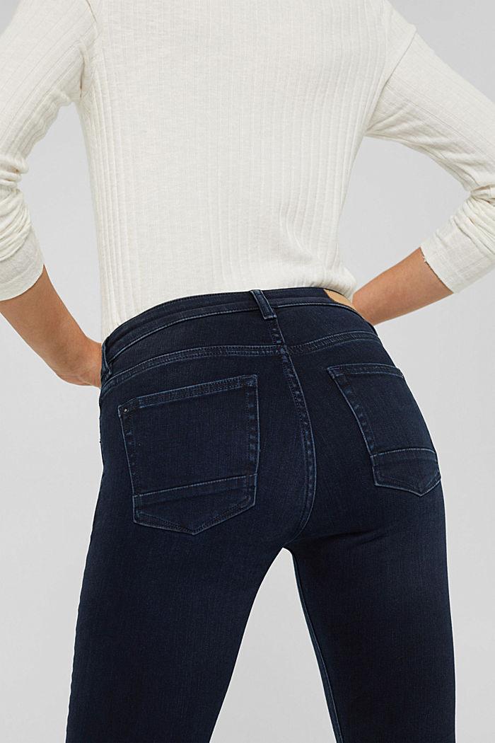 Jeans mit Knopfleiste und Kaschmir-Touch, BLUE BLACK, detail image number 5