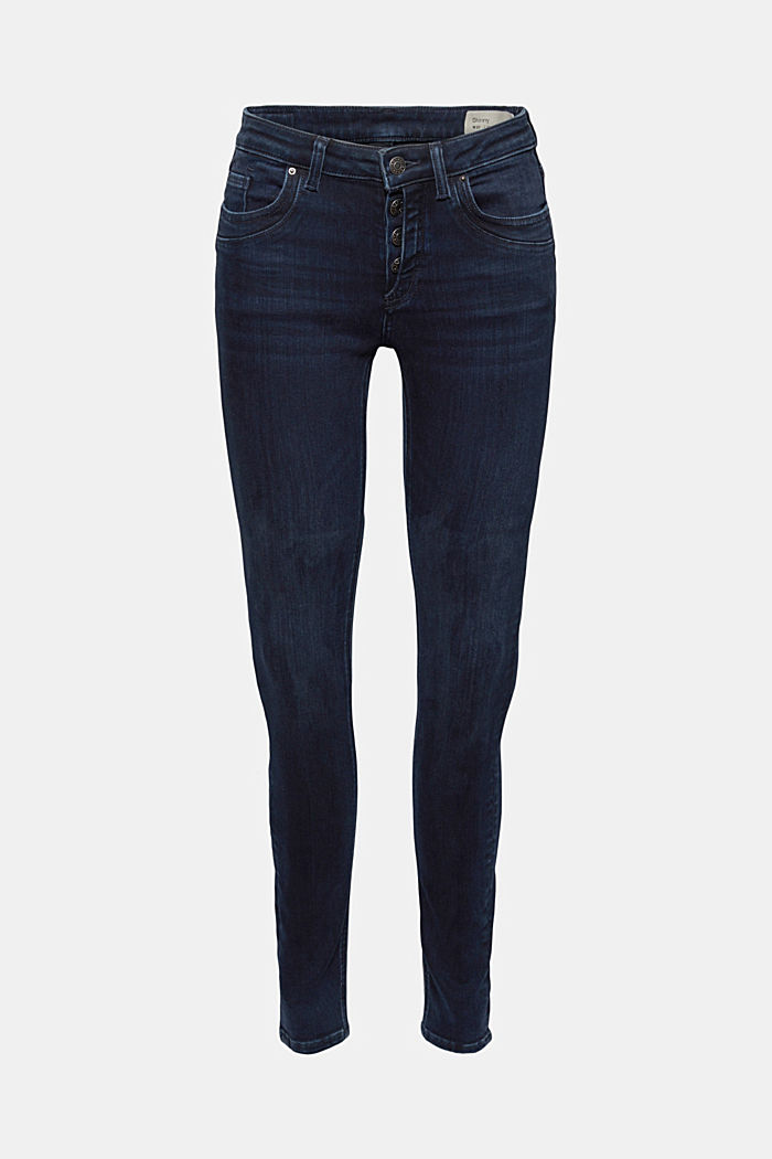 Button-fly jeans with a cashmere texture