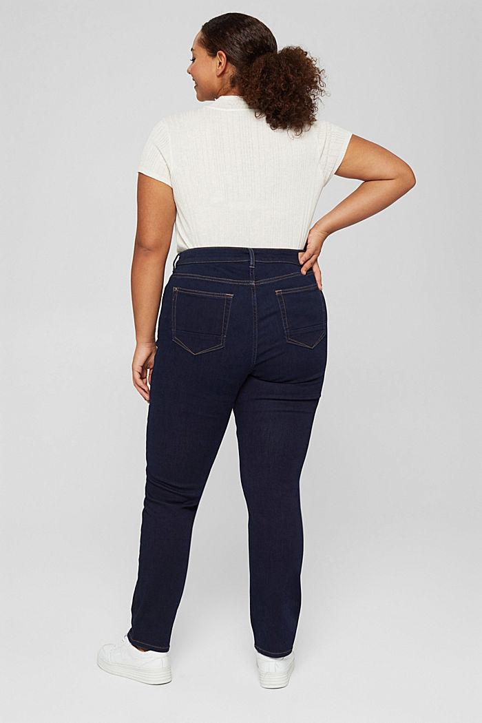 CURVY Jeans mit Knopfleiste und Kaschmir-Touch, BLUE RINSE, detail image number 3