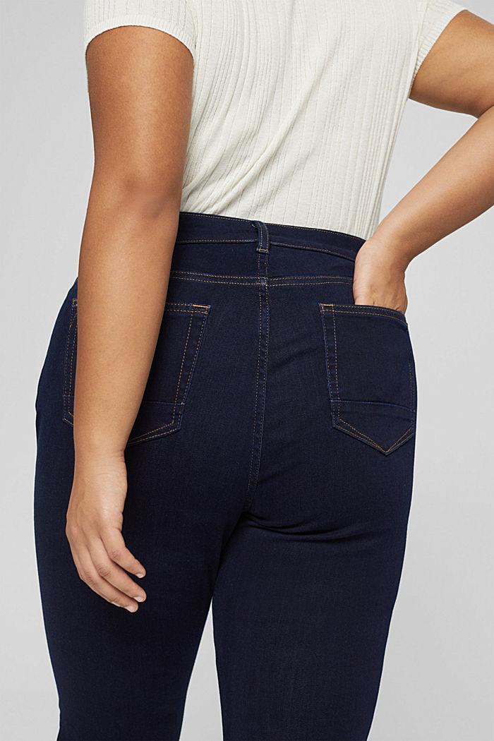 CURVY Jeans mit Knopfleiste und Kaschmir-Touch, BLUE RINSE, detail image number 2