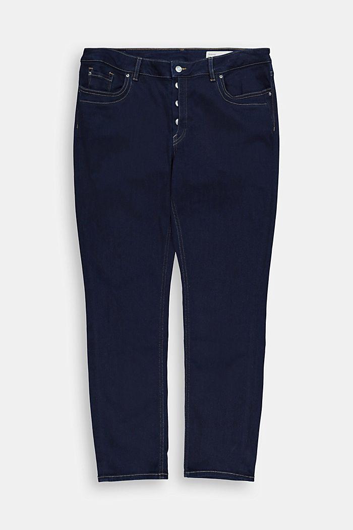 CURVY jeans met knoopsluiting en de touch van kasjmier