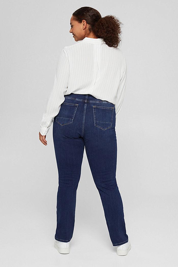 CURVY Jeans mit Knopfleiste und Kaschmir-Touch, BLUE DARK WASHED, detail image number 3