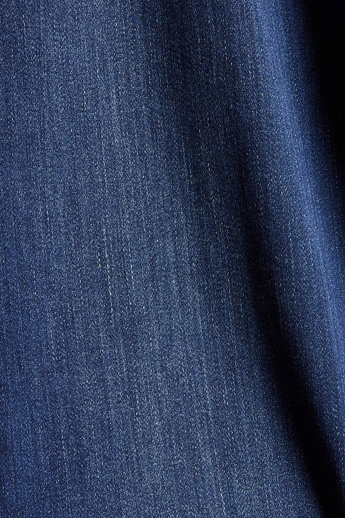 CURVY Jeans mit Knopfleiste und Kaschmir-Touch, BLUE DARK WASHED, detail image number 4