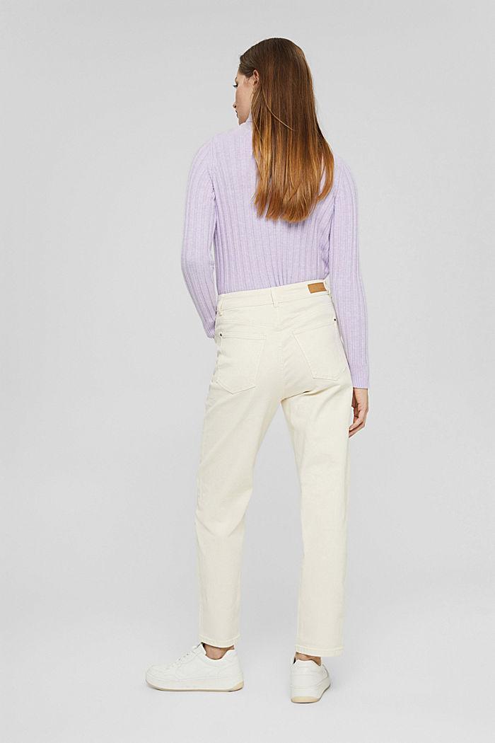 Pantalon de coupe Mom en coton biologique, OFF WHITE, detail image number 3